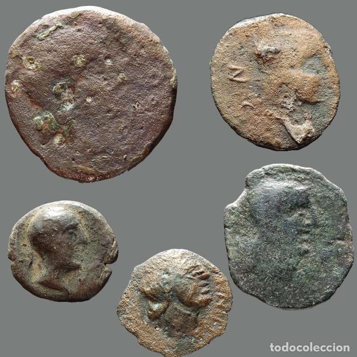 INTERESANTE CONJUNTO DE BRONCES IBÉRICOS, (5). 179-L (Numismática - Hispania Antigua - Moneda Ibérica no Romanas)