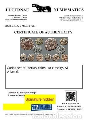 Monedas ibéricas: Interesante conjunto de bronces ibéricos, (6). 177-L - Foto 3 - 278551483