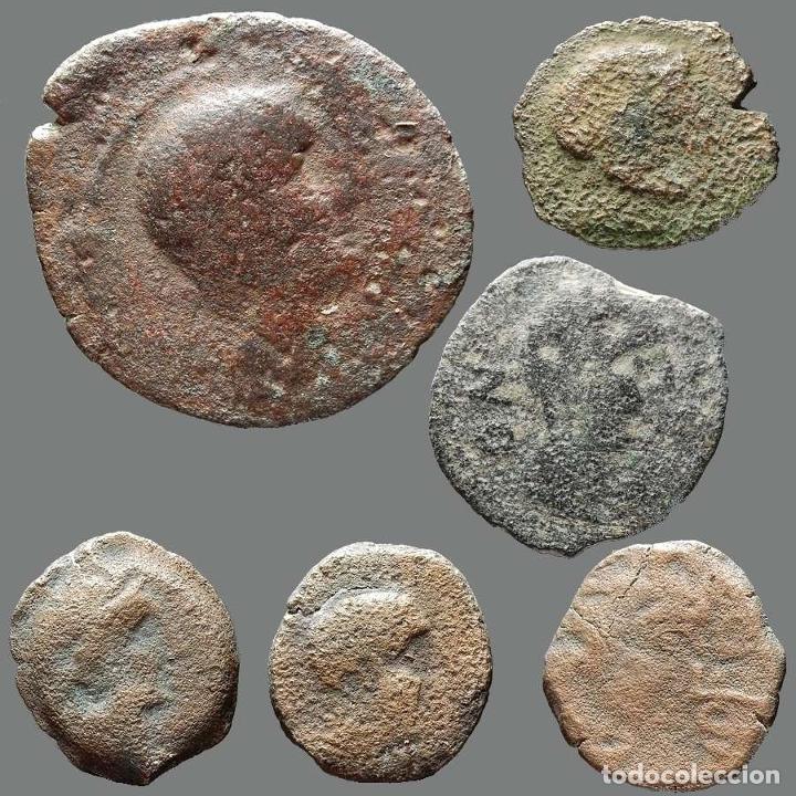 INTERESANTE CONJUNTO DE BRONCES IBÉRICOS, (6). 177-L (Numismática - Hispania Antigua - Moneda Ibérica no Romanas)