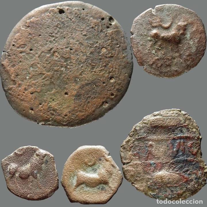 Monedas ibéricas: Interesante conjunto de bronces ibéricos, (5). 176-L - Foto 2 - 278551503