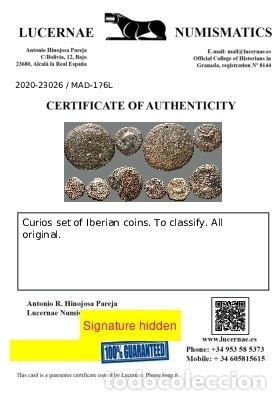 Monedas ibéricas: Interesante conjunto de bronces ibéricos, (5). 176-L - Foto 3 - 278551503