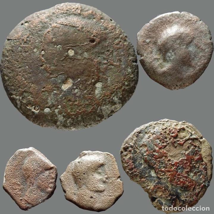 INTERESANTE CONJUNTO DE BRONCES IBÉRICOS, (5). 176-L (Numismática - Hispania Antigua - Moneda Ibérica no Romanas)