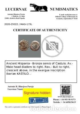 Monedas ibéricas: Semis de Castulo, I a.C. 173-L - Foto 2 - 278551528
