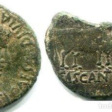 Monnaies ibériques: CASCANTUM (NAVARRA ) AS ACUÑADO POR TIBERIO, AUNQUE PARTIDO LEYENDAS Y FIGURAS CASI COMPLETAS. Lote 285527883