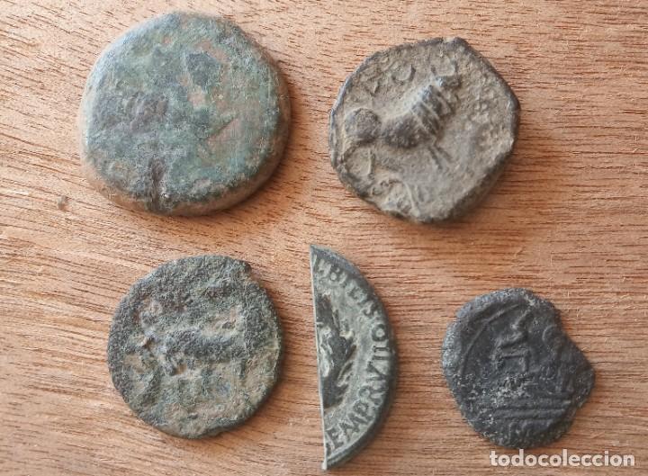 Monedas ibéricas: Lote de 5 monedas hispanas. - Foto 2 - 289602673