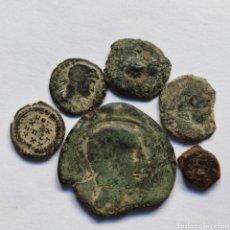 Monedas ibéricas: *NUMA*L._6.-CONJUNTO EBUSUS,CARISSA,SEMIS Y AS DE CASTILLO + 2 BAJITOS, TOTAL 6 PIEZAS.. Lote 292377918