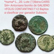 Monedas ibéricas: *NUMA*L._20.-LOTE CARISSA (1) ANTONIANO DE GALIENO,CONSTANTINO I° +2 MÁS. VER FOTOS.. Lote 293249063