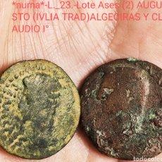 Monedas ibéricas: *NUMA*-L._23.-ASES AUGUSTO(JULIA TRAD) Y CLAUDIO I°. Lote 293273353
