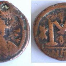 Monedas Imperio Bizantino: UN FOLLIS DE JUSTIN I. Lote 26659125