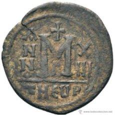 Monedas Imperio Bizantino: BIZANCIO. FOLLIS DE MAURICIO TIBERIO. THEÓPOLIS. Lote 40926700