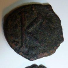 Monedas Imperio Bizantino: JUSTINO II 565-578 EMPERADOR BIZANTINO LOTE DE DOS 1/2 FOLLIS . Lote 42416359