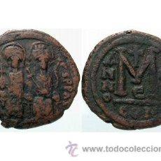 Monedas Imperio Bizantino: BIZANCIO: JUSTINO II - CONSTANTINOPLA --- FOLLIS. Lote 46321908