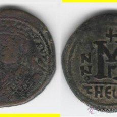 Monedas Imperio Bizantino: BIZANCIO: MAURICIO TIBERIO - THEOUPOLIS --- FOLLIS. Lote 46322016