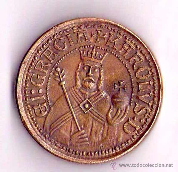 MEDALLA-MONEDA DEL REY CARLOS IV, EMPERADOR SACRO IMPERIO ROMANO-1346-1378,EN BRONCE,COPIA SIGLO XIX (Numismática - Periodo Antiguo - Imperio Bizantino)