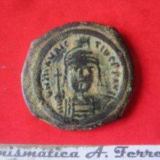 Monedas Imperio Bizantino: I. BIZANTINO. FOLLIS DE MAURICIO TIBERIO. #MN. Lote 49164147
