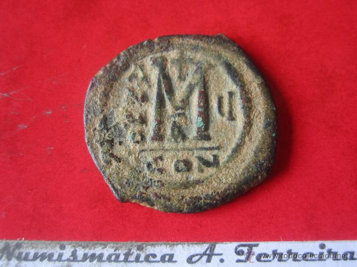 Monedas Imperio Bizantino: I. Bizantino. follis de Mauricio Tiberio. #mn - Foto 2 - 49164147