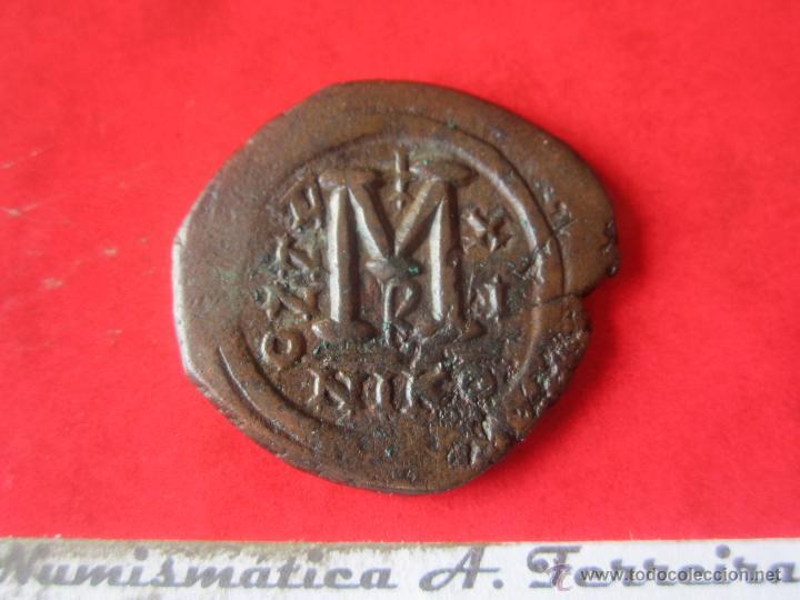 Monedas Imperio Bizantino: I. Bizantino. follis de Justino II y Sofia. #mn - Foto 2 - 49164303