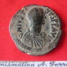 Monedas Imperio Bizantino: I. BIZANTINO. FOLLIS DE JUSTINO I. 518/527. #MN. Lote 49164788