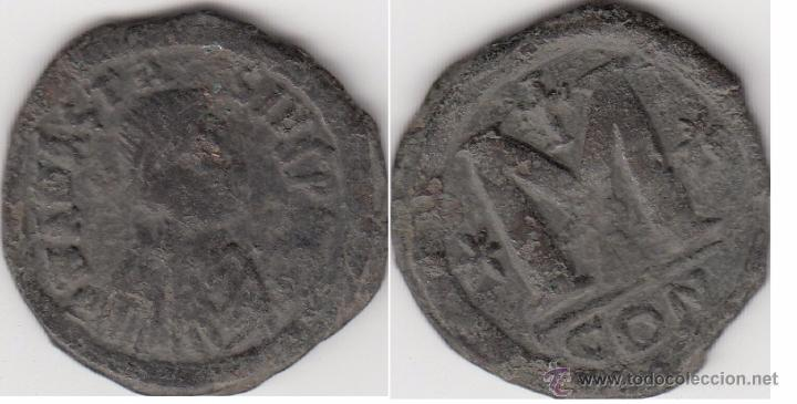 BIZANCIO : FOLLIS ANASTASIO I --- 491-518 D.C. (Numismática - Periodo Antiguo - Imperio Bizantino)