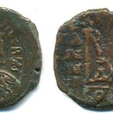 Monedas Imperio Bizantino: MAURICIO TIBERIO AÑOS 582/602, FOLIS 29 M/M, CECA CONSTANTINOPLA. Lote 75812807