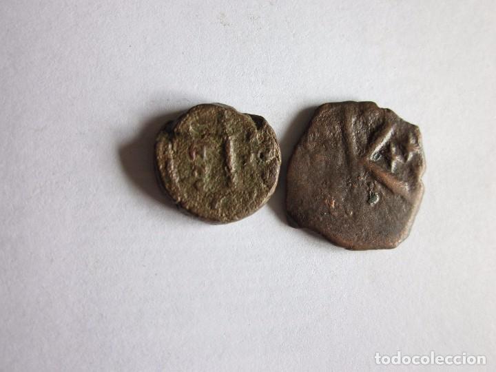 DECANUMIO Y SEMIS: JUSTINO I Y HERACLIO. (Numismática - Periodo Antiguo - Imperio Bizantino)