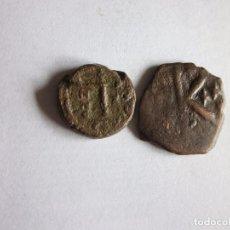 Monedas Imperio Bizantino: DECANUMIO Y SEMIS: JUSTINO I Y HERACLIO.. Lote 78464485