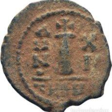 Monedas Imperio Bizantino: IMPERIO BIZANTINO! MAURICIO TIBERIO! 582-602! 10 NUMMI (DECANUMMI)! ANTIOQUIA!! MBC+! ESCASO 2,7G. Lote 111540995