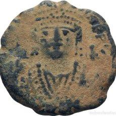 Monedas Imperio Bizantino: IMPERIO BIZANTINO! MAURICIO TIBERIO 582- 602! AE 10 NUMMI BRONCE! MBC ESCASO. Lote 113408859