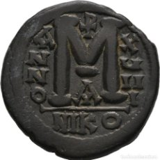 Monedas Imperio Bizantino: IMPERIO BIZANTINO! JUSTINIANO I (527-565)! AE 40 NUMMI - FOLLIS. 20,48G EBC NICOMEDIA 32 MM. Lote 113438307
