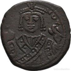 Monedas Imperio Bizantino: IMPERIO BIZANTINO! MAURICIO TIBERIO 582- 602! AE FOLLIS! ANTIOQUÍA! 10.40 G./25 MM. EBC. Lote 113527079