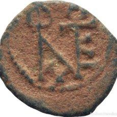 Monedas Imperio Bizantino: IMPERIO BIZANTINO! JUSTINO II (565 - 578)! AE PENTANUMMI (5 NUMMI). 1.4G MBC. Lote 114047799
