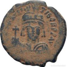 Monedas Imperio Bizantino: IMPERIO BIZANTINO! MAURICIO TIBERIO 582- 602! AE FOLLIS! CONSTANTINOPLA! MBC. Lote 114669447