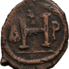 Monedas Imperio Bizantino: IMPERIO BIZANTINO! JUSTINIANO I, 527-565! BRONCE 8 NUMMI. THESSALONICA! MBC. Lote 115080103