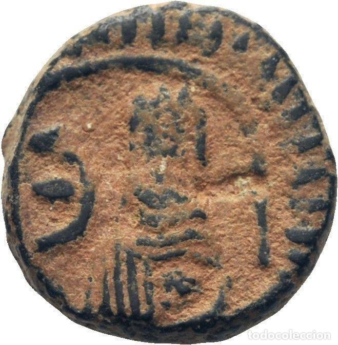 IMPERIO BIZANTINO! JUSTINO I (518-517)! AE PENTANUMMI (5 NUMMI). 2.1G MBC (Numismática - Periodo Antiguo - Imperio Bizantino)