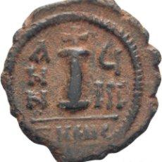 Monedas Imperio Bizantino: IMPERIO BIZANTINO! JUSTINO II Y SOFIA (565 - 578)! 10 NUMMI (BRONCE). ANTIOQUIA 3G MBC+ . Lote 115416011