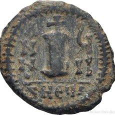 Monedas Imperio Bizantino: IMPERIO BIZANTINO! JUSTINO II Y SOPHIA., 565-578! DECANUMMI (10 NUMMI) ANTIOQUIA EBC-. Lote 117026815