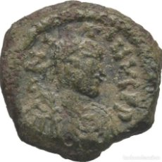 Monedas Imperio Bizantino: IMPERIO BIZANTINO! JUSTINIANO I, 527-565! DEKANUMMI (10 NUMMI) (BRONCE)! TESALÓNICA! MBC- MUY ESCASO. Lote 117042731