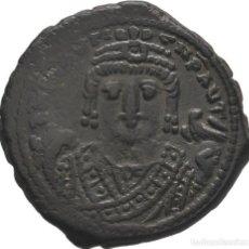 Monedas Imperio Bizantino: IMPERIO BIZANTINO! MAURICIO TIBERIO 582- 602! AE FOLLIS! ANTIOQUÍA! 11,65 G. 26 MM. EBC. Lote 117171959