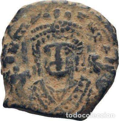 IMPERIO BIZANTINO. MAURICIO TIBERIO. 10 NUMMI. ANTIOQUIA 582-602 D.C. (Numismática - Periodo Antiguo - Imperio Bizantino)