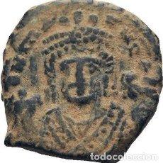 Monedas Imperio Bizantino: IMPERIO BIZANTINO. MAURICIO TIBERIO. 10 NUMMI. ANTIOQUIA 582-602 D.C.. Lote 117452423