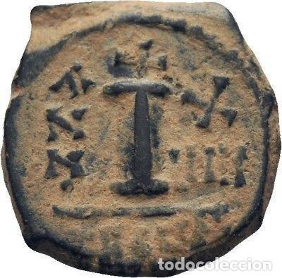 Monedas Imperio Bizantino: IMPERIO BIZANTINO. MAURICIO TIBERIO. 10 NUMMI. ANTIOQUIA 582-602 d.c. - Foto 2 - 117452423