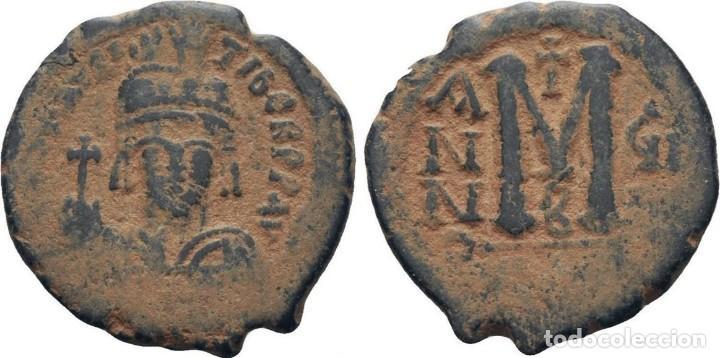 Monedas Imperio Bizantino: IMPERIO BIZANTINO. MAURICIO TIBERIO. FOLLIS. CONSTANTINOPLA 582-602 d.c. - Foto 3 - 117457699