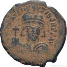 Monedas Imperio Bizantino: IMPERIO BIZANTINO. MAURICIO TIBERIO. FOLLIS. CONSTANTINOPLA 582-602 D.C.. Lote 117457699