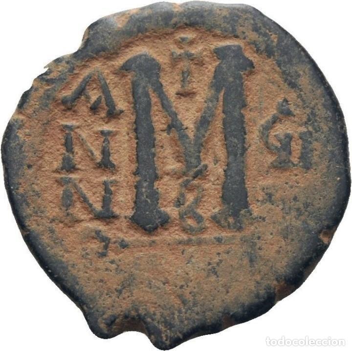 Monedas Imperio Bizantino: IMPERIO BIZANTINO. MAURICIO TIBERIO. FOLLIS. CONSTANTINOPLA 582-602 d.c. - Foto 2 - 117457699