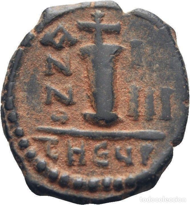 Monedas Imperio Bizantino: IMPERIO BIZANTINO. JUSTINO II Y SOFÍA. 10 NUMMI. ANTIOQUIA 565-578 d.c. - Foto 2 - 117460099