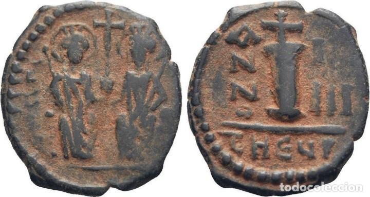 Monedas Imperio Bizantino: IMPERIO BIZANTINO. JUSTINO II Y SOFÍA. 10 NUMMI. ANTIOQUIA 565-578 d.c. - Foto 3 - 117460099
