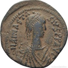 Monedas Imperio Bizantino: IMPERIO BIZANTINO! ANASTASIO, 491-518! FOLLIS (BRONCE)! CONSTANTINOPLA. EBC-. Lote 119288139