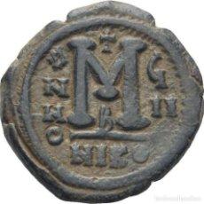 Monedas Imperio Bizantino: IMPERIO BIZANTINO! JUSTINO II Y SOFIA., 565-578 FOLLIS (BRONCE)! NICOMEDIA! EBC-. Lote 119340735