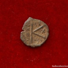 Monedas Imperio Bizantino: MEDIO FOLLIS DE JUSTINO II 575-576 D.C. CECA SALONICA. Lote 137881426