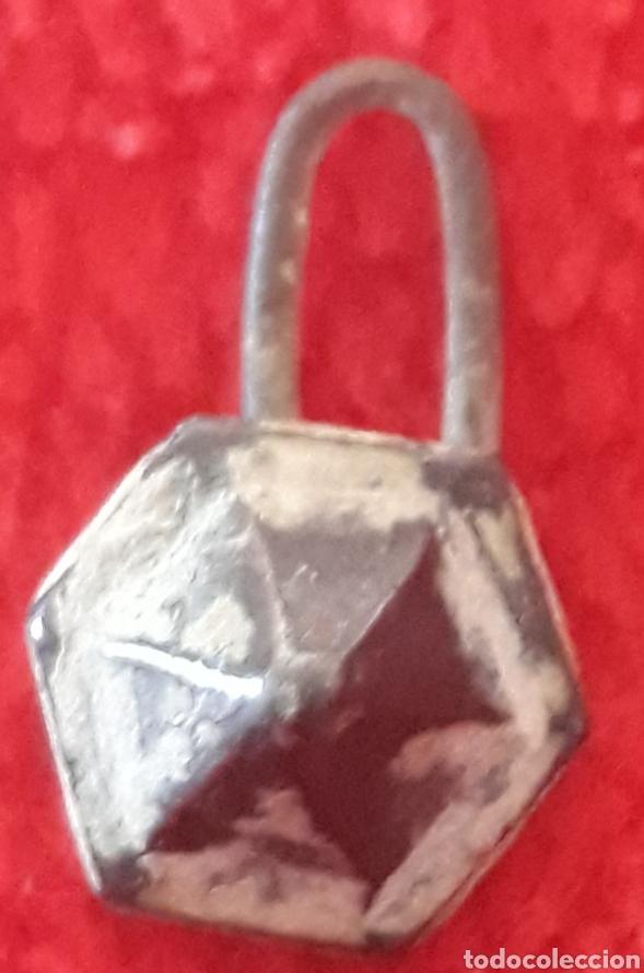Monedas Imperio Bizantino: Boton de plata hexágono piramidal - Foto 2 - 145961493